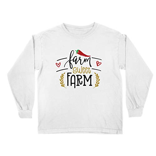 lepni.me T-Shirt Bambini/Ragazze Fattoria Sweet Farm Eco Natura (9-11 Years Bianco Multicolore)