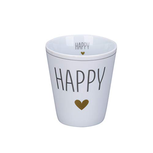 Krasilnikoff - Becher, Tasse - Happy Mug - Happy - Höhe: 10 cm - Volumen: 330 ml