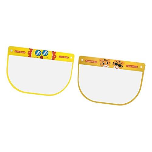 SM SunniMix 2pcs Niños Full Protective Face Cover Esponja Visor Anti - Sol + Tigre, Individual