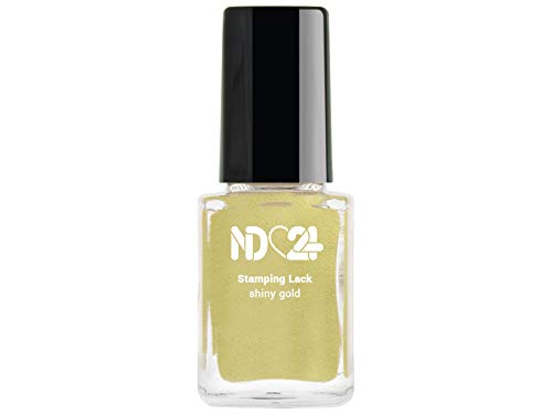 Stamping Nagellack Lack Shiny Gold - Gold - Hochpigmentiert - Made in Germany - 12ml