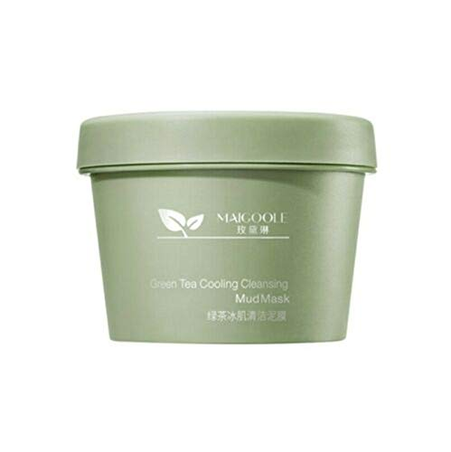 Green Tea Cooling Cleansing Mud Mask,Matcha Green Tea Facial Detox Mud Mask,Deep Cleansing Mask, Moisturizes and Controls The Oil, Acne Clearing, Blackhead Remover, Improves Texture of The Skin