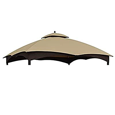 ABCCANOPY Replacement Canopy Top Roof for Lowe's Allen Roth 10X12 Gazebo #GF-12S004B-1, Beige