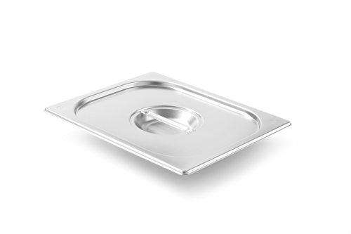 HENDI Gastronorm Deckel, für Gastronormbehälter, Temperaturbeständig von -40° bis 300°C, Heissluftöfen-Kühl- und Tiefkühlschränken-Chafing Dishes-Bain Marie, Stapelbar, GN 1/2, 265x235mm, Edelstahl