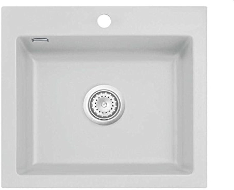 Systemceram Mera 57 Alu Keramik-Spüle Excenterbettigung Hellgrau matt Einbau