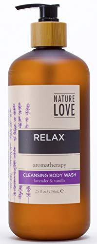 Nature Love Relax Cleansing Body Wash with Lavender & Vanilla 25 fl oz