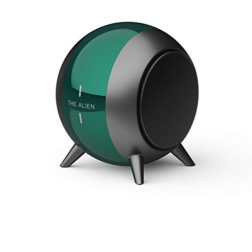 Altavoz Portátil Bluetooth, Altavoz Portátil TWS Stereo 3D Hi-Fi Potente Bajo, 6 Horas de Reproducción, Ranura para Tarjeta TF para Viajes, Deportes, Hogar(Verde)
