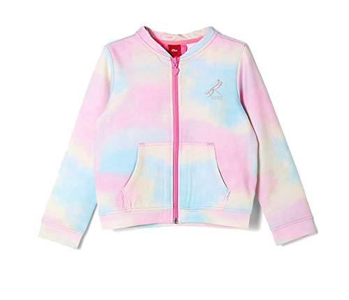 s.Oliver Junior Mädchen Sweatjacke Sweatshirt, 44B0 Dark pink AOP, 92/98/REG