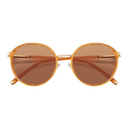 Gafas de sol retro para mujer, gafas de sol polarizadas con marco redondo y salvaje, gafas de sol polarizadas para mujer con protección UV