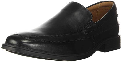 Clarks Herren Tilden Free Slipper, Schwarz (Black Leather), 43 EU