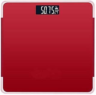 Báscula, básculas Pantalla LCD roja Índice de Cuerpo Básculas de pesaje Inteligentes electrónicas Cuerpo de baño de 180 kg Básculas Digitales de Peso Humano Báscula de Piso