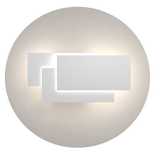 Klighten Aplique de pared Lámpara Moderno LED 24W Lámpara para Decoración del Hogar Pared Dormitorio Pasillo Entrada Blanco natural 4000~4500K
