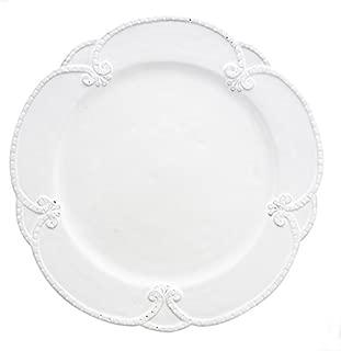 Arte Italica Bella Bianca Rosette Dinner Plate, White