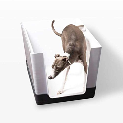 Doggy Bathroom Dog Litter Box - Indoor Dog Potty with Vertical Pee Pads for Male Dogs (Dark Grey)
