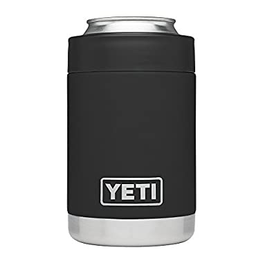 YETI Rambler Vacuum Insulated Stainless Steel Colster, Black DuraCoat