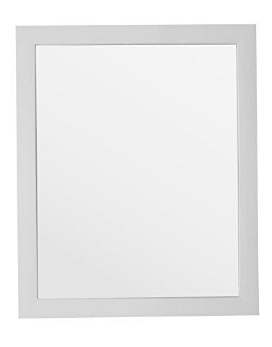 King Home S1710943 Specchio da Parete con Cornice, Bianco, 40X50H