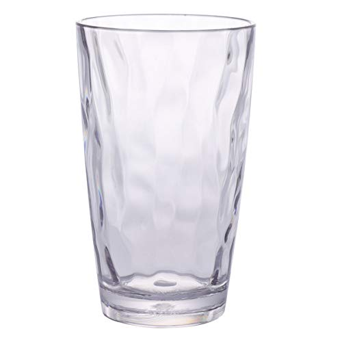 Cabilock Klar Acryl Trinken Gläser Unzerbrechlich Trinken Gläser Klar Acryl Reusable Saft Wein Tassen Kunststoff Trinkgläser für Startseite Picknick Party Transparent