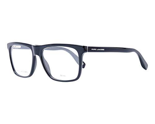 Marc Jacobs Marc 342 807 Black Plastic Rectangle Eyeglasses 55mm