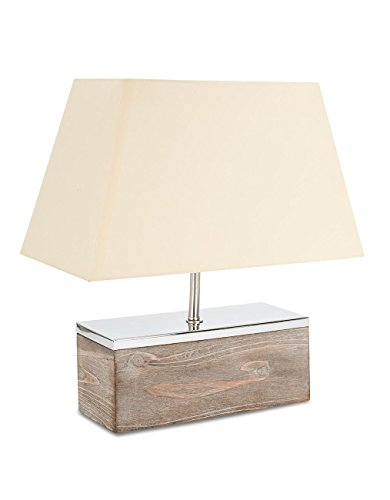 levandeo 97052 Tischlampe B x H x T: 35 x 40 x 25 cm Holz, Metall Vintage Shabby Chic