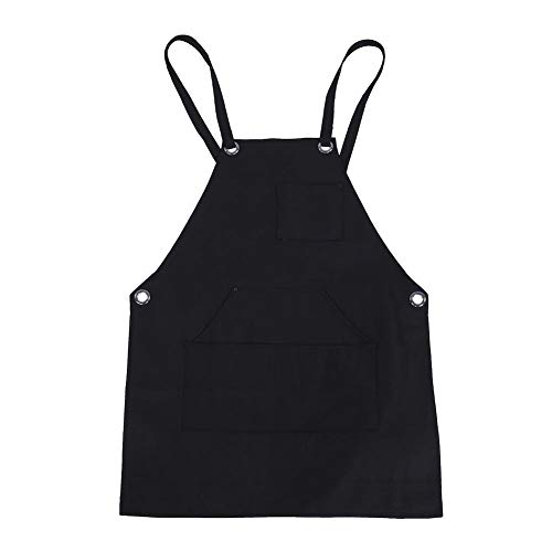 Delantal de trabajo de tela, delantal regulable, con bolsillo, bolsillo para herramientas, utilizado en la cocina, el