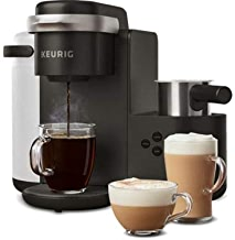 Keurig K-Cafe Single-Serve K-Cup Coffee Maker, Latte Maker and Cappuccino Maker, Comes with Dishwasher Safe Milk Frother, Coffee Shot Capability, Compatible With all Keurig K-Cup Pods, Dark Charcoal