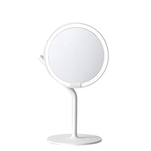 JINBAO Espejo de Maquillaje LED con Lámpara de Escritorio Ángulo de Visión de 360 ° Espejo de Luz Diurna HD Espejo de Tocador con Luz de Relleno Blanco Portátil 14.57 * 6.89 * 8.7 Pulgadas