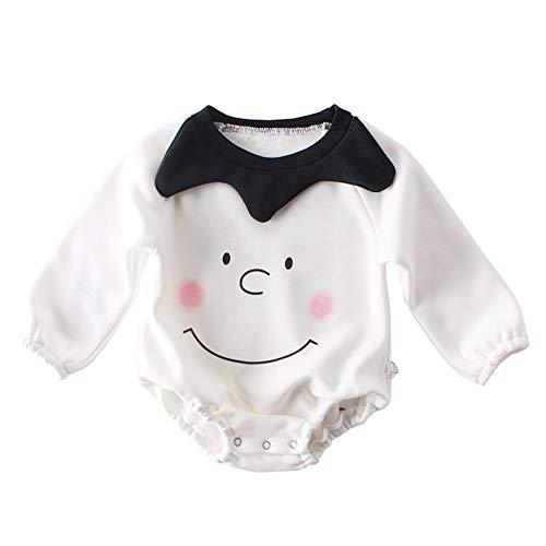Mornyray Nouveau-né Filles Automne et Hiver Barboteuse Coton Smile Pattern Plus Combinaison de Velours