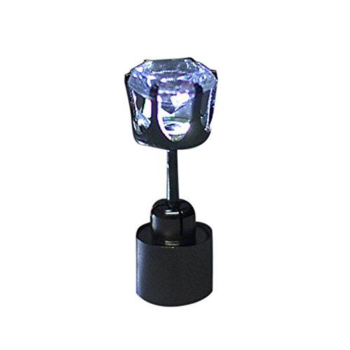 QIUMINGSS Damen Bolzen Ohrstecker Schmuck LED leuchtet Glühen Bolzen Ohrschmuck Chic Einfache Ohrringe Elegant Temperament Geschenk Weiß