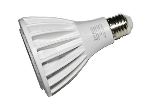Ogeled - Bombilla reflectora LED (20 W, Par30, E27, COB, CRI 90, 15º), color blanco cálido