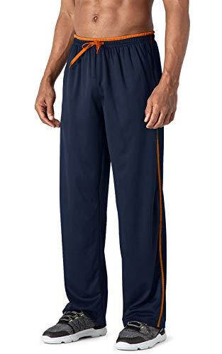 MAGCOMSEN - Fitness-Hosen für Herren in Dunkelblau Orange, Größe 38