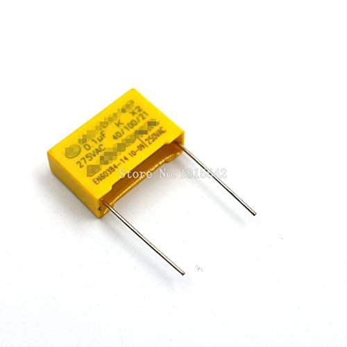 20PCS/LOT Sicherheits Kondensator 275VAC 104 0,1 UF 275V Pitch 15mm Polypropylen Film capacitor CAPACITANCE