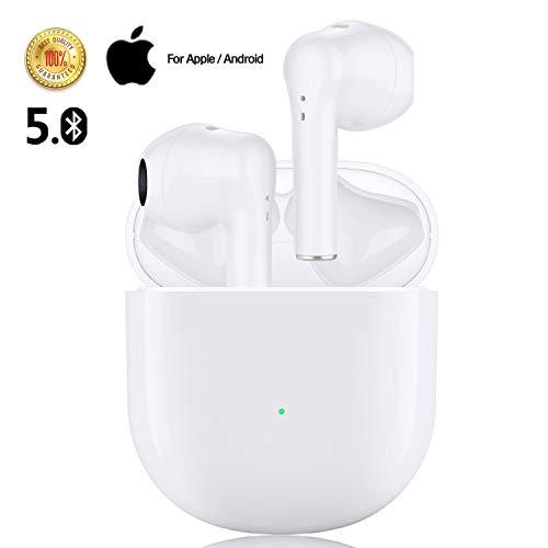 Bluetooth Kopfhörer Kabellose Kopfhörer mit Premium Klangprofil Noise Cancelling,24 Stunden Akkulaufzeit Kabellose Ohrhörer IPX5 Wasserschutzklasse für iPhone Android in-Ear Kopfhörer