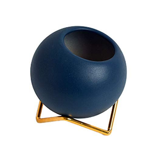 Cheaonglove Macetas Grandes Exterior Maceta Ceramica Semillas de ollas Pequeña Planta de Marihuana Pequeñas Macetas Planta de Interior Olla Macetas de Interior Blue