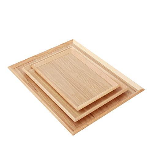AWJ Bandeja de madera Bandeja de madera Pastel Postre Plato de fruta