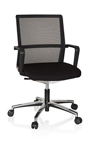 hjh OFFICE 608904 Bürostuhl Move-TEC NET 3D Stoff/Netz Schwarz Drehstuhl für dynamisches & gesundes Sitzen