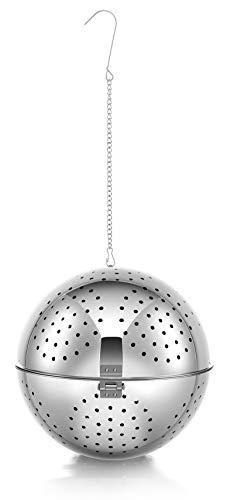 Cuociriso, Diametro 14 Cm, Realizzato In Acciaio Inox, Cuociriso Ideale Per Riso E Cereali, Palla Di Riso Con Cordicella A Gancio In Alto