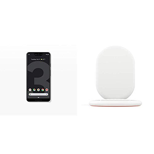 Google - Pixel 3 XL with 64GB Memory Cell Phone (Unlocked) - Just Black Bundle with Google Wireless Charger for Pixel 3, Pixel 3XL - White