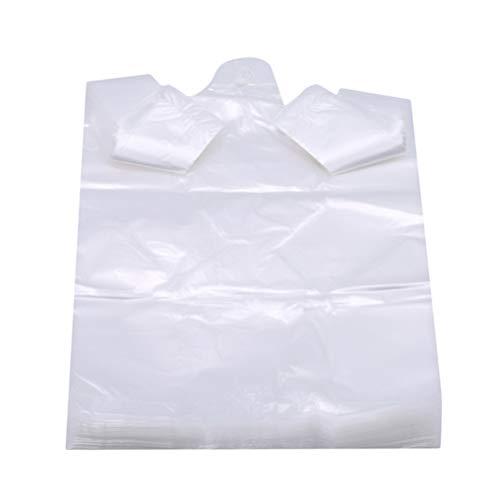 Flybloom 100 Sachets en Plastique Transparents De Supermarché De Sac À Provisions De Sacs avec L'Emballage Alimentaire De Poignée, 28 * 48