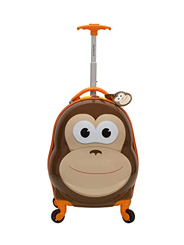 Rockland Jr. Kids' My First Hardside Spinner Luggage, Monkey, Carry-On 19-Inch