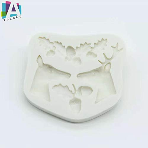 A YuanGu Christmas Cake Mold 1 Pieces, Used For Creative Cake Decoration, Mini Cake, Chocolate, Cookies, DIY Theme Party Cake Decoration Baking Tools.