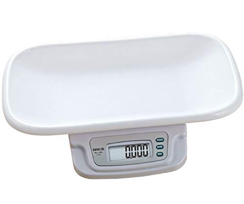 CGOLDENWALL Huishoudelijke Digitale Baby Gewicht Schaal Multi-Functie Weegschaal voor Peuter Baby Huisdier/Weeg tot 20kg/Nauwkeurigheid 5g/Memo Functie