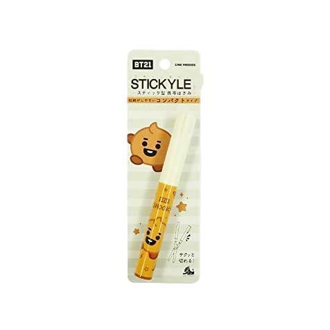 【公式】 BT21 公式 ハサミ 鋏 スティッキール Stick Scissor コンパクト 収納 携帯 はさみ 切る スティックはさみ かわいい (SHOOKY)