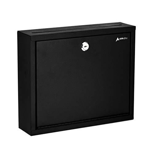 "AdirOffice Multi Purpose, Mailbox, Drop Box, Suggestion Box, Wall Mountable, 3"" x 10"" x 12"" - Black"