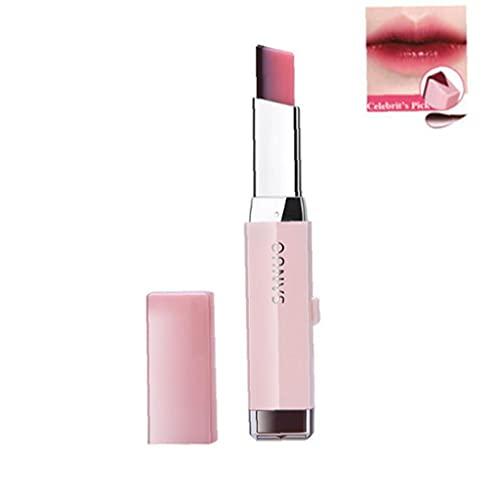 LAANCOO 1 stück Zweifarbige Lippenstift Feuchtigkeitsspendende Gradientenlippenstift wasserdichte Tönungslippenstange Kosmetisches Geschenk für Frauen Mädchen (8 Kirschmilch) Gradient Lippenstift
