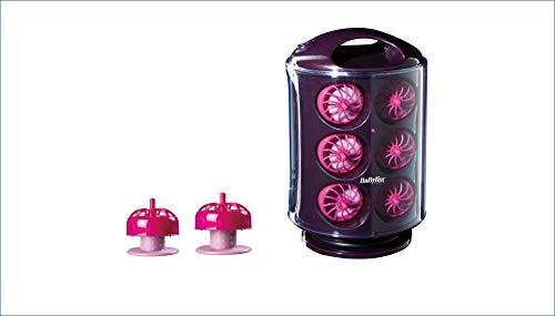 BaByliss Clip n' Curl RS100E - Set de 12 rulos térmicos de silicona, calentamiento rápido y sistema automático de clip fácil y rápido
