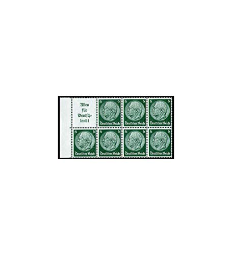 Goldhahn Deutsches Reich Markenheftchenblatt Nr. 85 postfrisch** Hindenburg A9+6 Pfennig Briefmarken für Sammler