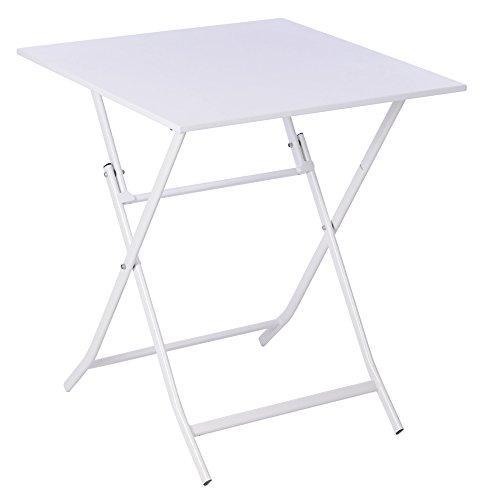 NACH ki-2037 Bistro Style Foldable Metal Table White