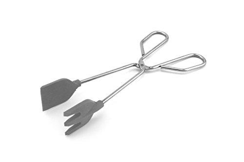Fackelmann Food&More Tenacillas Cocina con Palas, Acero Inoxidable, INOX/Gris, 25 X 8 X 4 Cm