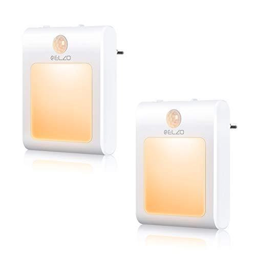 ELZO LED Nachtlicht Steckdose mit Dämmerungssensor Automatisch ON/OFF Stromsparendes, Nachtlicht Baby Orientierungslicht für Kinderzimmer, Schlafzimmer, Badezimmer, Flur (Warmweiß)