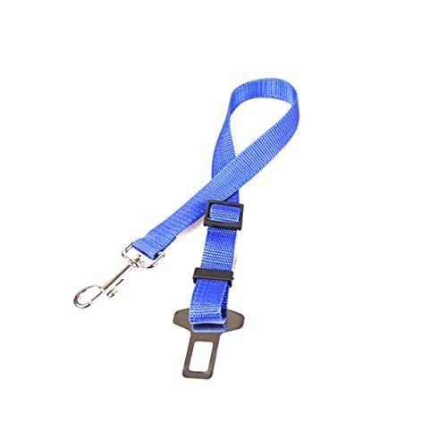 NINIWA Cinturón de seguridad ajustable para perros con barra de pestillo y mosquetón elástico para mascotas, color azul oscuro