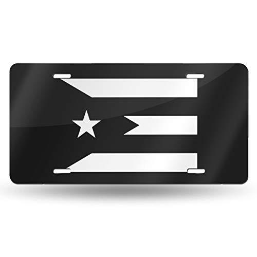 MEYU3ZU Puerto Rico Resiste Boricua Flag Se Levanta License Plate Tag 6'X12' Aluminum Vanity Decorative Tag